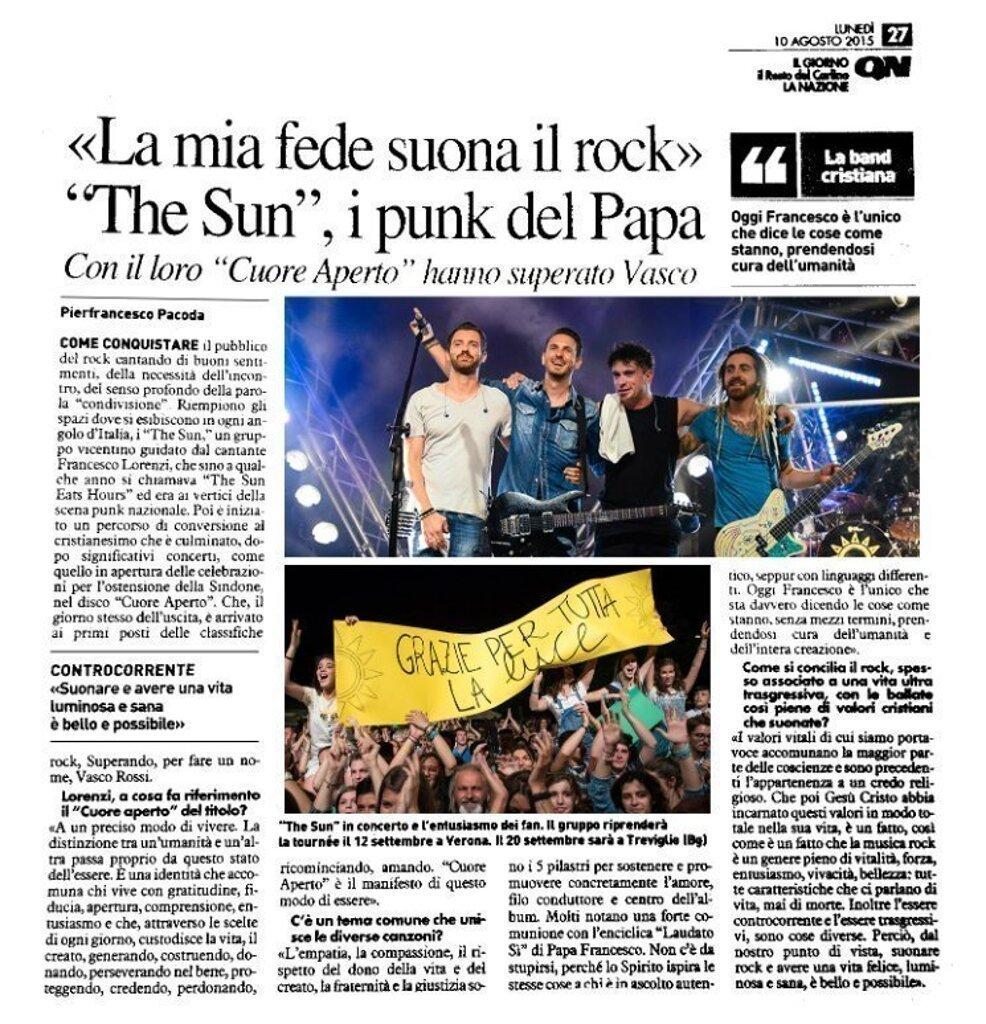 Il Resto del Carlino - intervista Francesco Lorenzi
