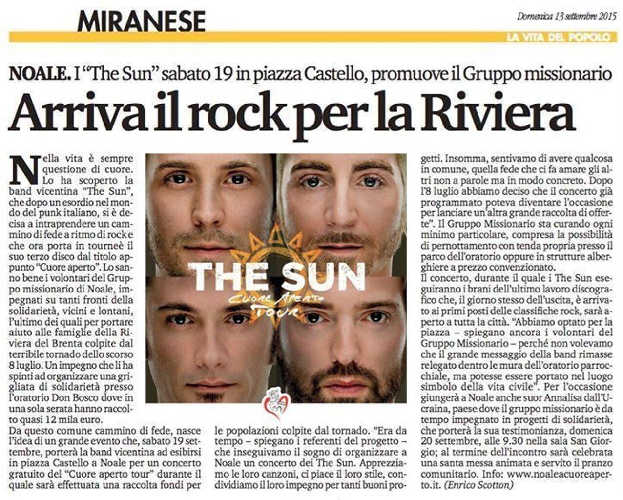 The Sun - Articolo Noale