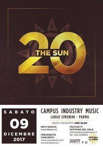 The Sun locandina concerto 20 anni