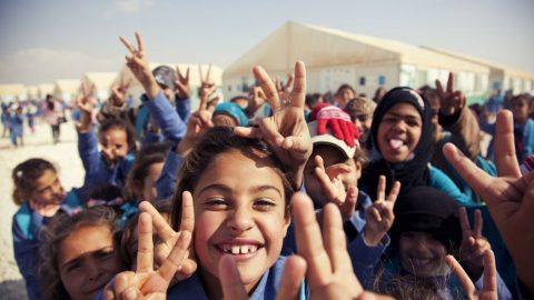 bambini profughi in giordania